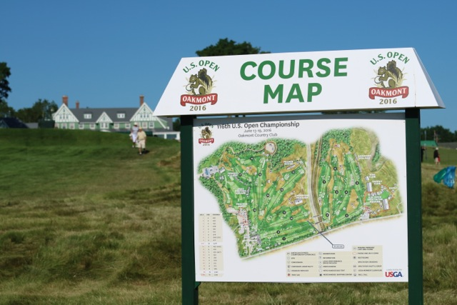 Gallery Day 1 At The 2016 US Open Titleist - Us Open Course Map