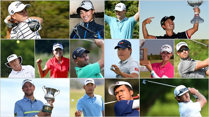 Collage Photo of Tournament Winners from October 2019 who relied on a Titleist golf ball for their success